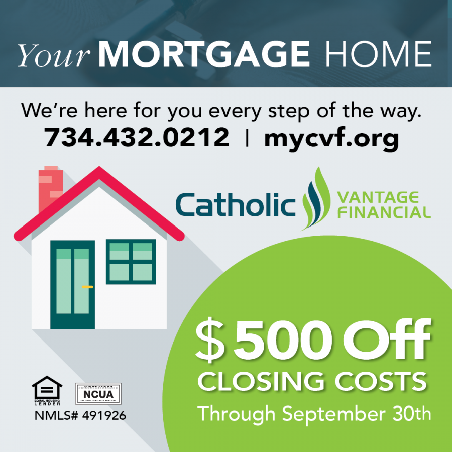 $500 off closing costs for qualifying mortgages through Sept. 29. 2019