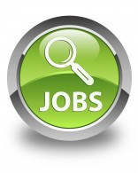 Jobs glossy green round button