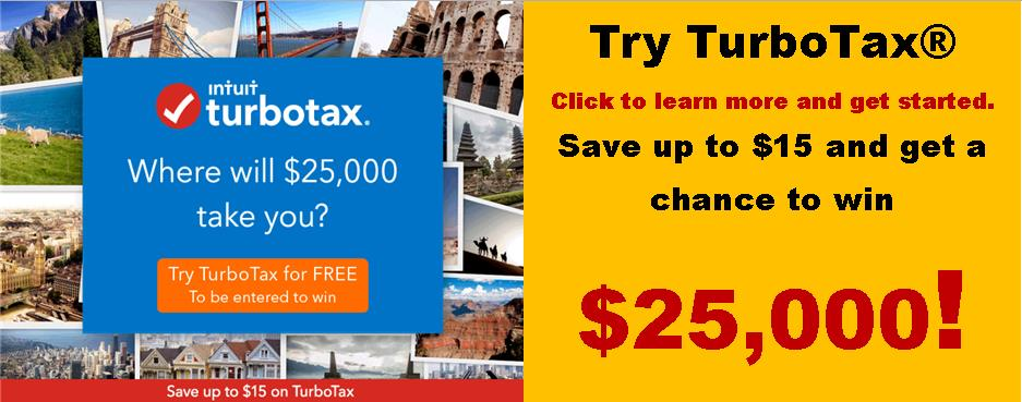 Online Banking Banner Turbo Tax