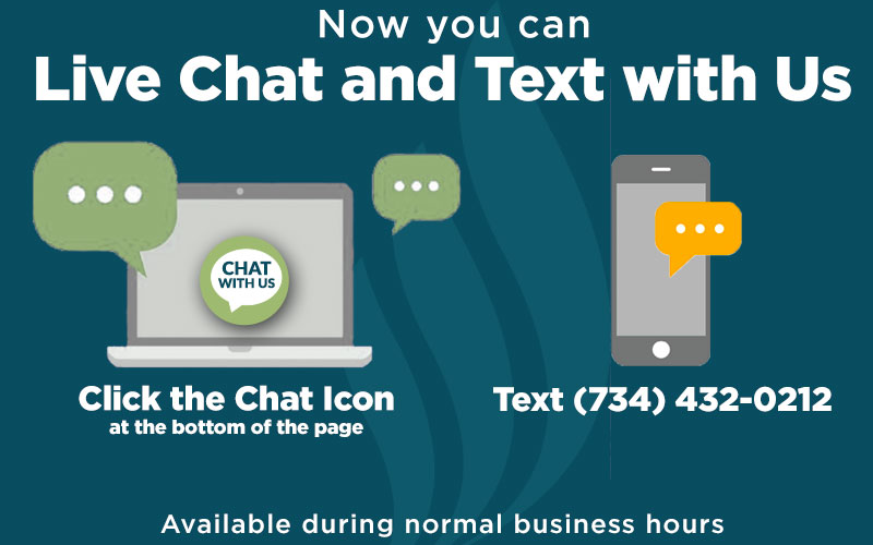 Live Chat and Text during business hours