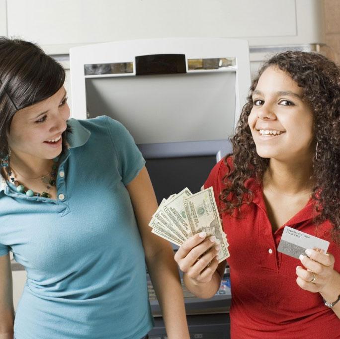 teens at ATM